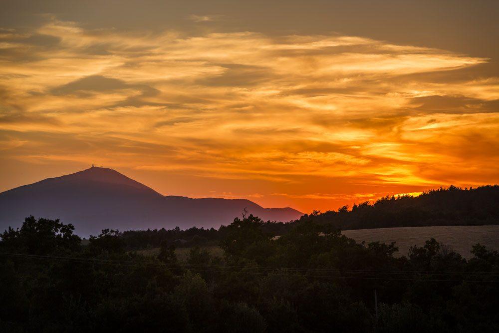Coucher de soleil au Pays d'Apt