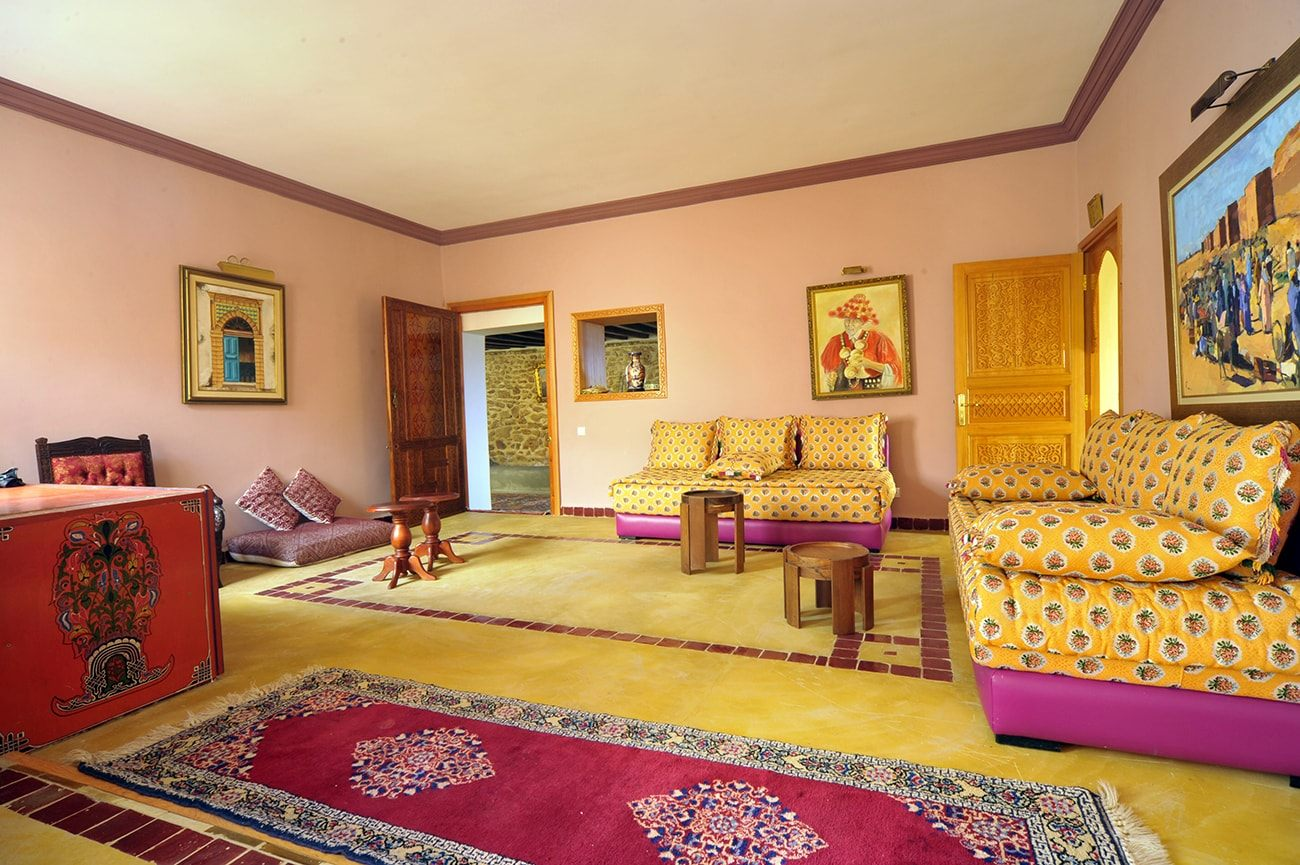 salon marocain du centre en moyen atlas