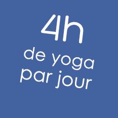 4 heures de yoga par jour