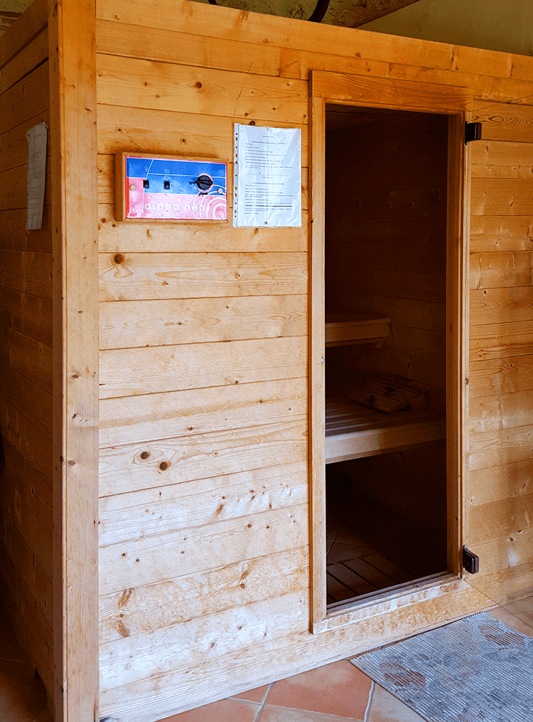 Photo du sauna dans le centre du dordogne