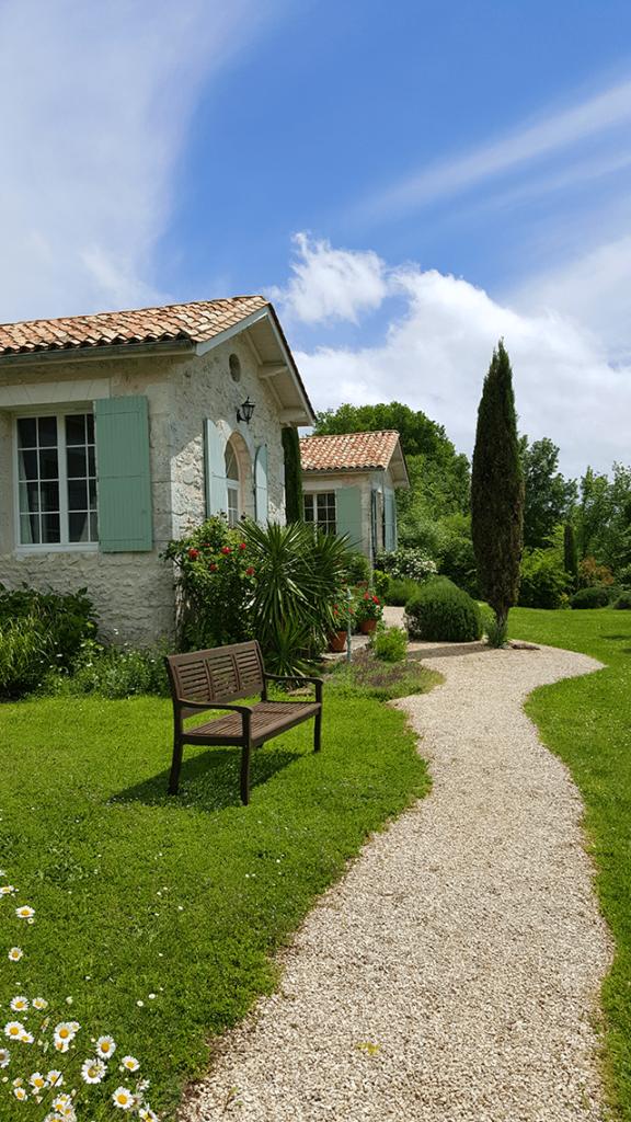 Le banc du jardin