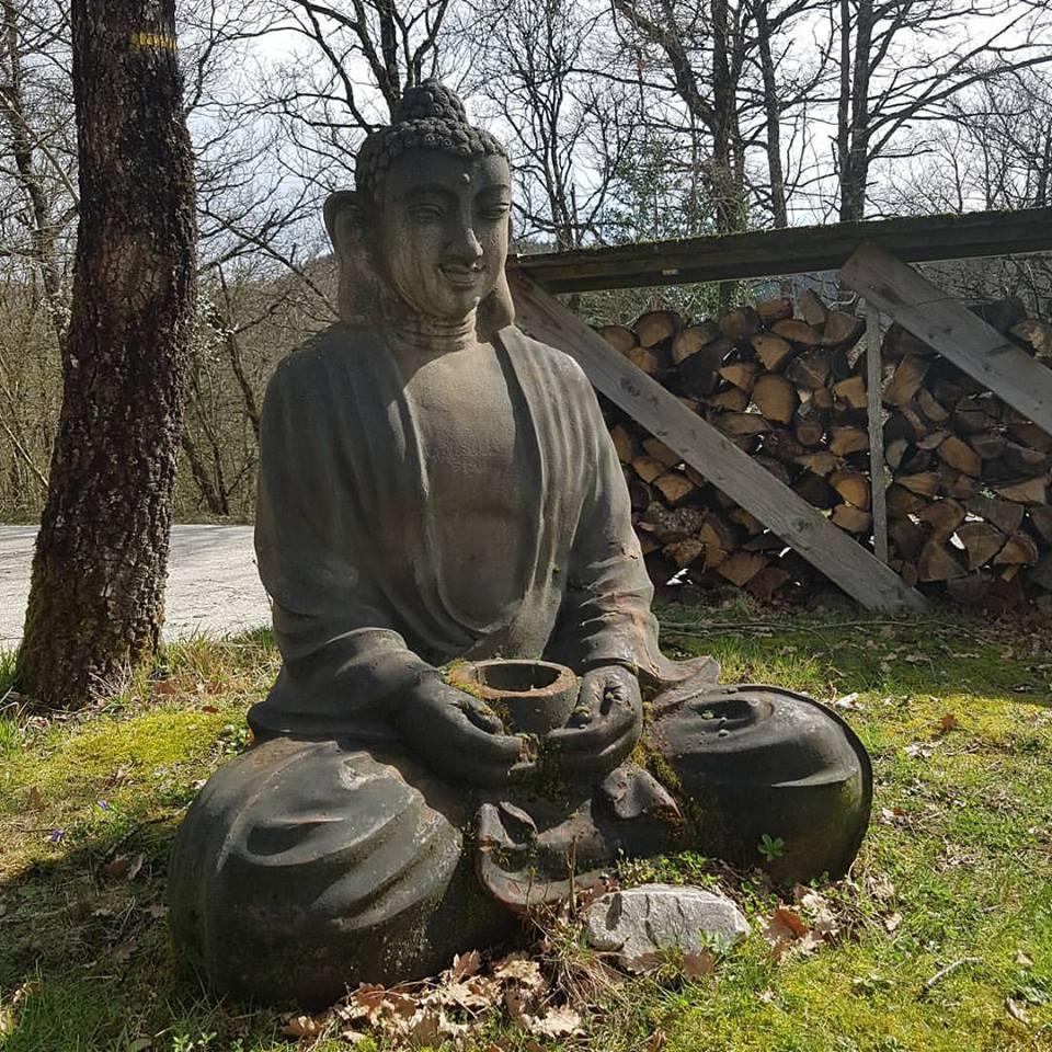 Le boudha dans le jardin